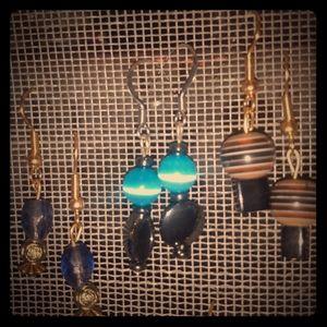 7 pairs of handmade earrings